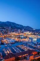 Port of Monaco in the Evening