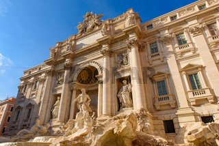 Trevi Fountain, one of the most famous fountains in the world, in Rome, Italy