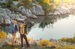 Couple in hike