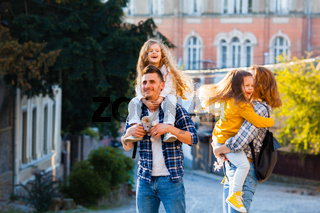 the unforgettable journey through the old town for a young family