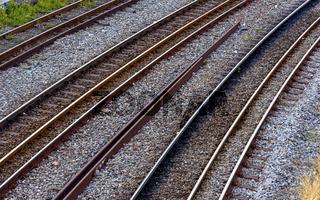 Old rusty train tracks