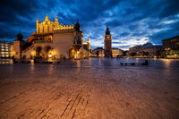Old Town Square of Krakow in the Evening