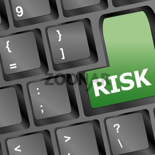 risk management key showing business insurance concept