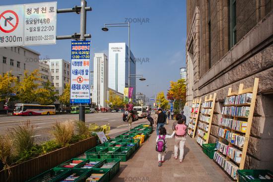 Seoul Book Market in South Korea