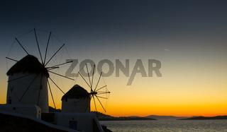 Windmils of Mykonos Island, Greece