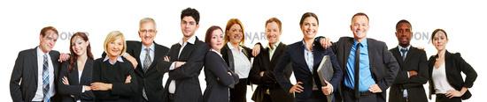 Panorama aus erfolgreichen Business Team Partnern