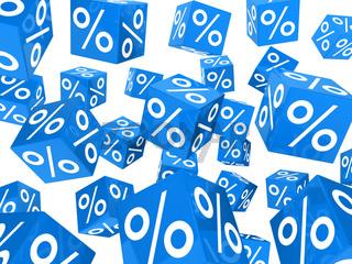 blue sale percent cubes