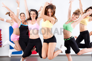 Enthusiastic group of women having fun