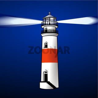 Leuchtturm bei Nacht.eps