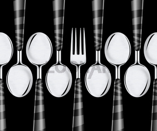 Fork and spoons
