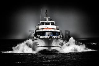 Schnellboot vor Sizilien