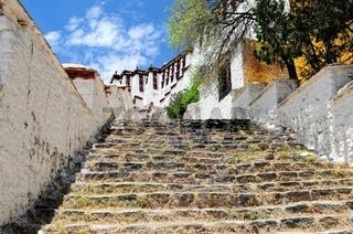 Steile Treppen in den Himmel Potala Palast Lhasa