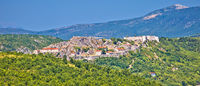 Knin fortress and landscape aerial panoramic view