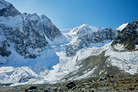 High mountains with glaciers