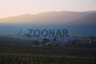 Sonnenuntergang bei Hunawihr, Elsass