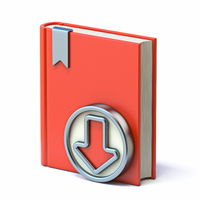 E-Book with circle download button 3D