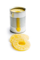 Canned sliced pineapple fruit