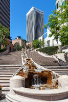 LOS ANGELES, CALIFORNIA, USA - JULY 28 : Steps in the Financial district of Los Angeles California on July 28, 2011. One unidentified person.