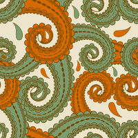 vector seamless eastern style paisley background