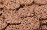 Round organic flaxseed crackers