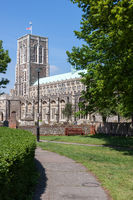 SOUTHWOLD, SUFFOLK, UK - JUNE 2 : Church of St Edmund in Southwold Suffolk on June 2, 2010