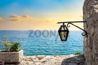 Lantern and the sea