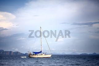 Yacht in a Sea