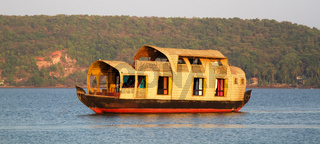 River ships for tourists in India.