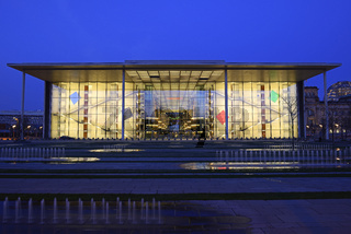 Paul Loebe Haus am Abend, Regierungsviertel, Berlin, Deutschland