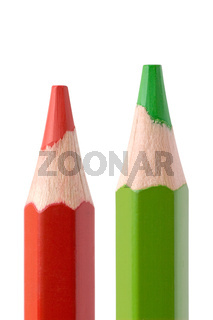 red and green pencil