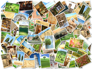 Many different images of Tuscany