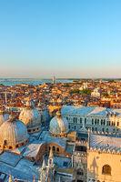 Venice city at sunset