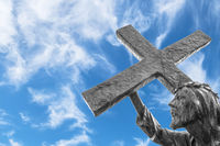 Statue of Jesus carrying his cross
