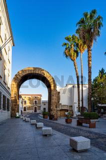 Arch of Trajan in Merida, Extremadura, Spain