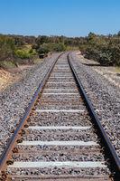 Victorian Railway Line in Australia