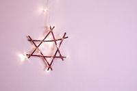 Weihnachtsstern rosa Dekoration