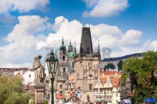 Karlov or charles bridge in Prague
