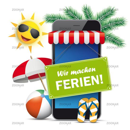 Smartphone Shop Marquee Green Ferien Sun Flip-Flops