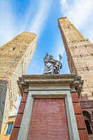 Bologna in Italy with Asinelli and Garisenda towers