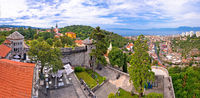 City of Rijeka and Trsat panoramic view
