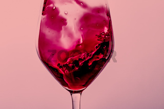 Red wine in crystal glass, alcohol drink and luxury aperitif, oenology and viticulture product