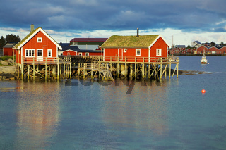 Norwegian fishing huts