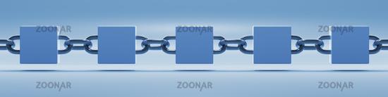 blockchain symbol wide banner