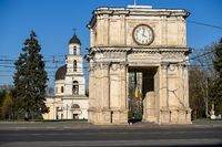The Triumphal Archc at The Great National Assembly Square in Chisinau, Moldova