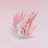 3D illustration, 3D rendering. Arms in plants,