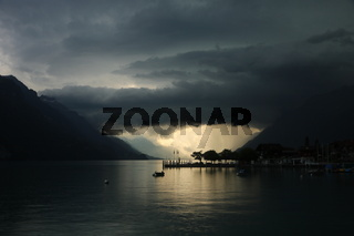 Arrival of a thunderstorm seen from Brienz, Switzerland.