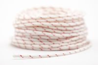 Bundle of white, nylon laundry rope