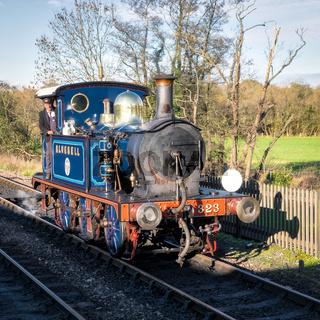 Bluebell Steam Train approaching Sheffield Park Station