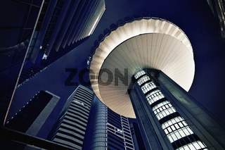 Modern futuristic office buildings exteriors