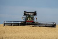 Swather in Action